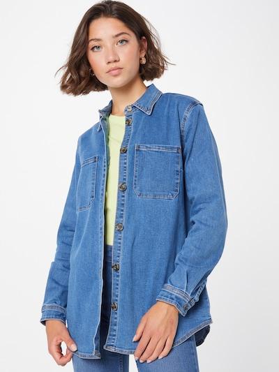 Bluză OBJECT pe albastru denim, Vizualizare model