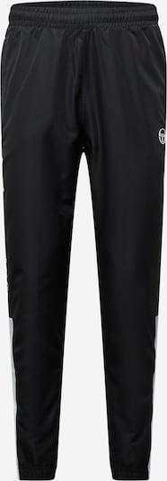 Pantaloni 'Abita' Sergio Tacchini pe negru / alb, Vizualizare produs