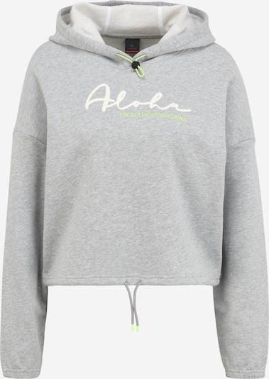 Bogner Fire + Ice Sweat-shirt 'CARMEN' en gris chiné / kiwi / blanc, Vue avec produit