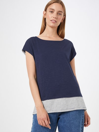 ESPRIT Shirt in Navy / White: Frontal view