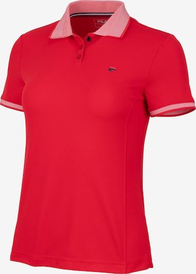 FILA Poloshirt in rot / weiß, Produktansicht