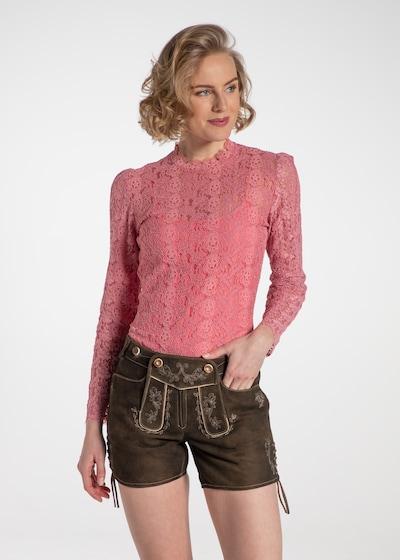 SPIETH & WENSKY Trachtenbluse 'Ravioli' in dunkelpink, Modelansicht