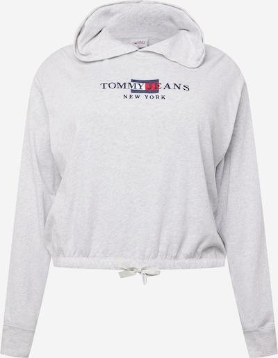 Bluză de molton Tommy Jeans Curve pe bleumarin / gri deschis / roșu / alb, Vizualizare produs