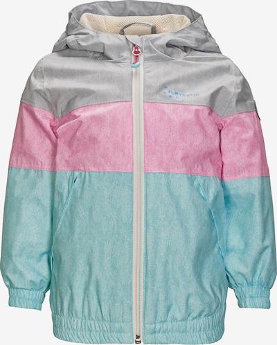 KILLTEC Jacke in türkis / pink / silber, Produktansicht