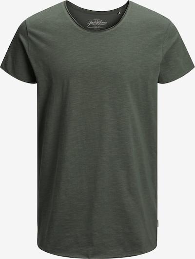JACK & JONES Shirt 'JJEBAS TEE SS U-NECK NOOS' in oliv, Produktansicht