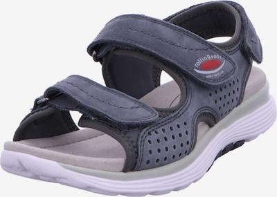 GABOR Sandale in blau / rot, Produktansicht