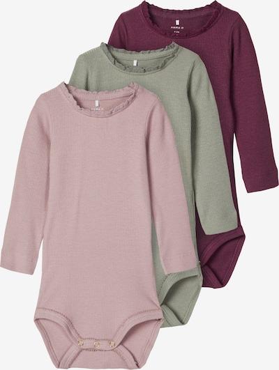 NAME IT Pijama entero/body 'ROSE MARIE' en menta / baya / mezcla de colores / rosa: Vista frontal