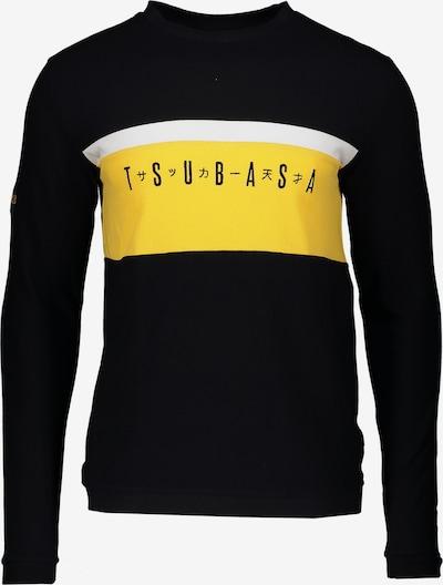 Lobster & Lemonade Sweatshirt in gelb / schwarz / weiß: Frontalansicht