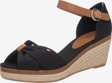 Sandale cu baretă 'Elba' de la TOMMY HILFIGER pe negru