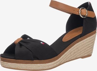 TOMMY HILFIGER Remienkové sandále 'Elba' - koňaková / čierna, Produkt