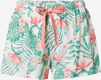 Pantaloni de pijama PJ Salvage pe verde / corai / alb, Vizualizare produs