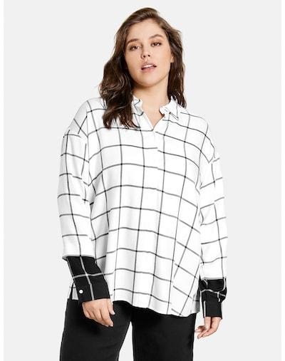SAMOON Bluse in schwarz / offwhite, Modelansicht
