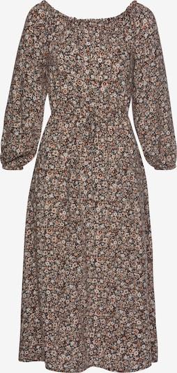 LASCANA Kleid in creme / hellbraun / tanne / schwarz, Produktansicht