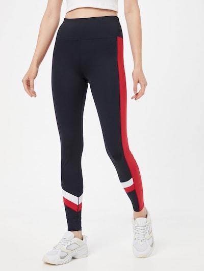 Tommy Sport Pantalon de sport en bleu foncé / rouge / blanc, Vue avec modèle