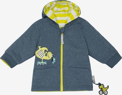 SIGIKID Sweatjacke in gelb / dunkelgrau / mint / schilf / schwarz, Produktansicht