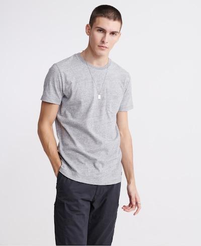 Superdry Superdry Denim Goods Co T-Shirt mit Tasche in grau: Frontalansicht