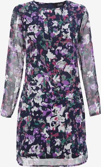 Aniston SELECTED Kleid in dunkelblau / dunkelgrün / pink / weiß, Produktansicht