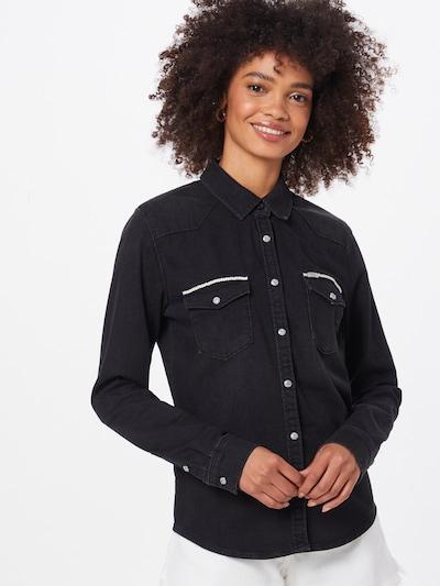 LTB Bluse 'Lucinda' in schwarz / weiß, Modelansicht