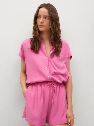 MANGO Broek 'LIM' in Roze