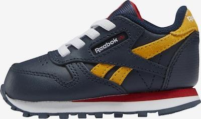 Reebok Classics Sneaker 'Classic Leather' in dunkelblau / senf / rot / weiß, Produktansicht