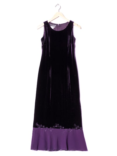 Donna Morgan Samtkleid in XS in dunkellila, Produktansicht
