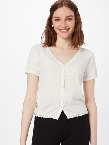 VILA Knit Cardigan 'SIMA' in White