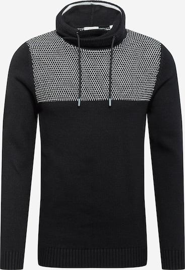EDC BY ESPRIT Sweter w kolorze czarny / nakrapiany białym, Podgląd produktu