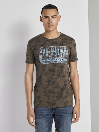 TOM TAILOR DENIM T-Shirt en bleu ciel / kaki: Vue de face