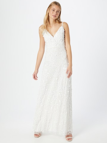 LACE & BEADS Evening Dress 'Barbara' in White