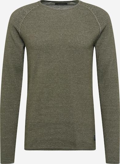 SHINE ORIGINAL Pullover in khaki / weiß, Produktansicht