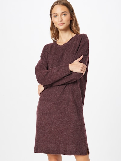 VILA Knitted dress 'HAILEY' in Wine red, View model