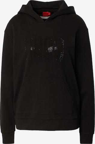 HUGO Sweatshirt 'Dasara' in Schwarz