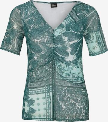 s.Oliver BLACK LABEL Shirt in Grün