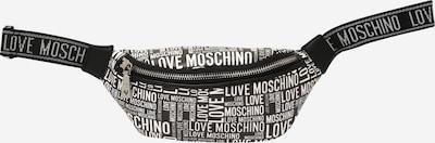 Love Moschino Torba na pasek w kolorze czarny / białym, Podgląd produktu