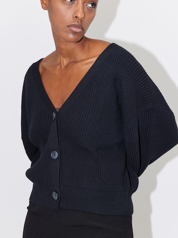 LeGer by Lena Gercke Knit Cardigan 'Maira' in Black