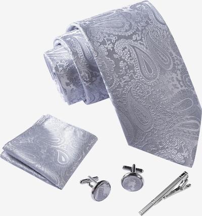 Massi Morino Krawatte Set in hellgrau, Produktansicht