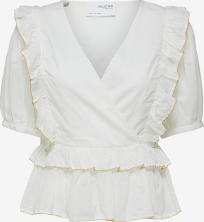 SELECTED FEMME Bluse 'Duffy' in gold / weiß, Produktansicht
