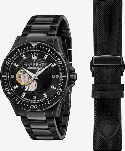 Maserati Uhr in schwarz, Produktansicht