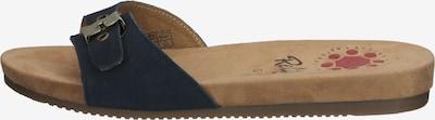 Relife Pantolette in navy / hellbraun, Produktansicht