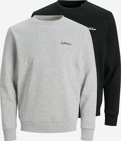 JACK & JONES Sweatshirt in de kleur Lichtgrijs / Zwart: Vooraanzicht