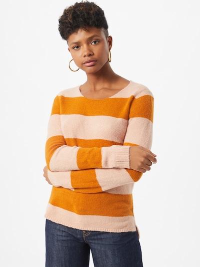 VILA Sweter 'Katay' w kolorze pomarańczowy / różowy pudrowym: Widok z przodu