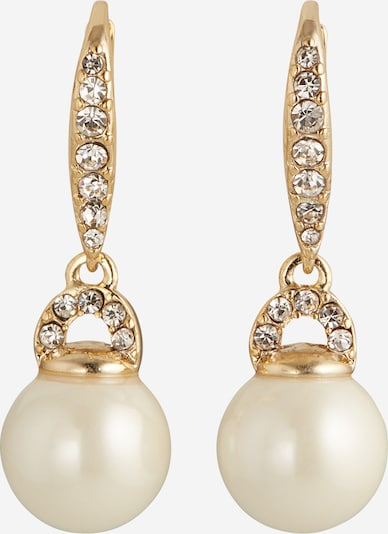 Lauren Ralph Lauren Boucles d'oreilles en or / blanc / blanc perle, Vue avec produit