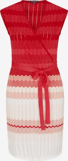 COMMA Robes en maille en rose / rouge clair / blanc, Vue avec produit