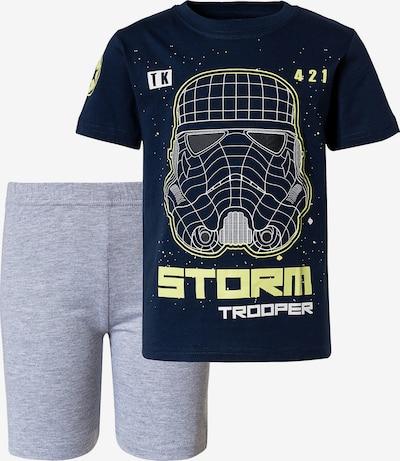 STAR WARS Schlafanzug 'Star Wars' in marine / hellgelb / graumeliert / weiß, Produktansicht
