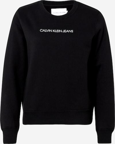 Calvin Klein Jeans Sweat-shirt 'SHRUNKEN' en noir / blanc, Vue avec produit