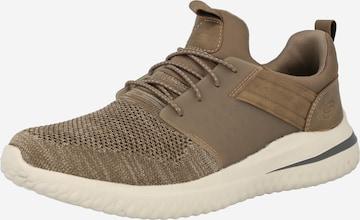 Sneaker bassa 'DELSON 3.0' di SKECHERS in marrone