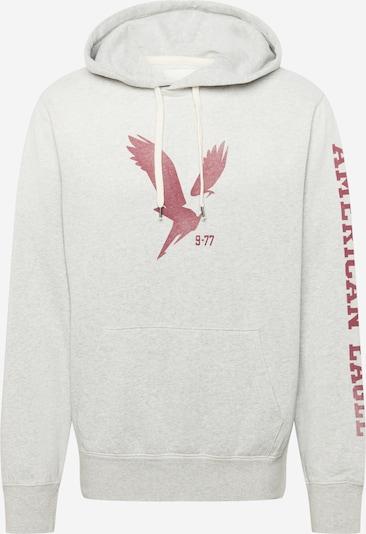 Bluză de molton American Eagle pe gri deschis / roşu închis, Vizualizare produs