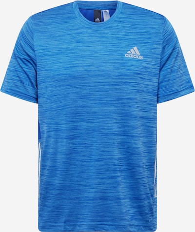 ADIDAS PERFORMANCE T-Shirt fonctionnel en bleu chiné / gris, Vue avec produit