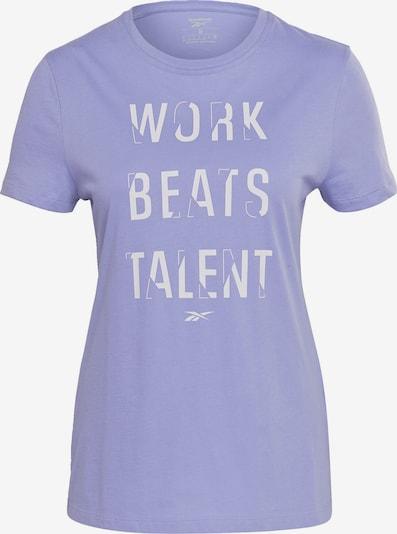 REEBOK Funktionsshirt 'Work Beats Talent' in flieder / weiß, Produktansicht