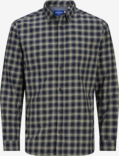 JACK & JONES Hemd 'Globe' in navy / hellgelb / weiß, Produktansicht